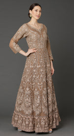 Coffee Brown Anarkali with Dupatta
