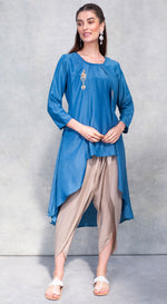 High-low top with dhoti pants