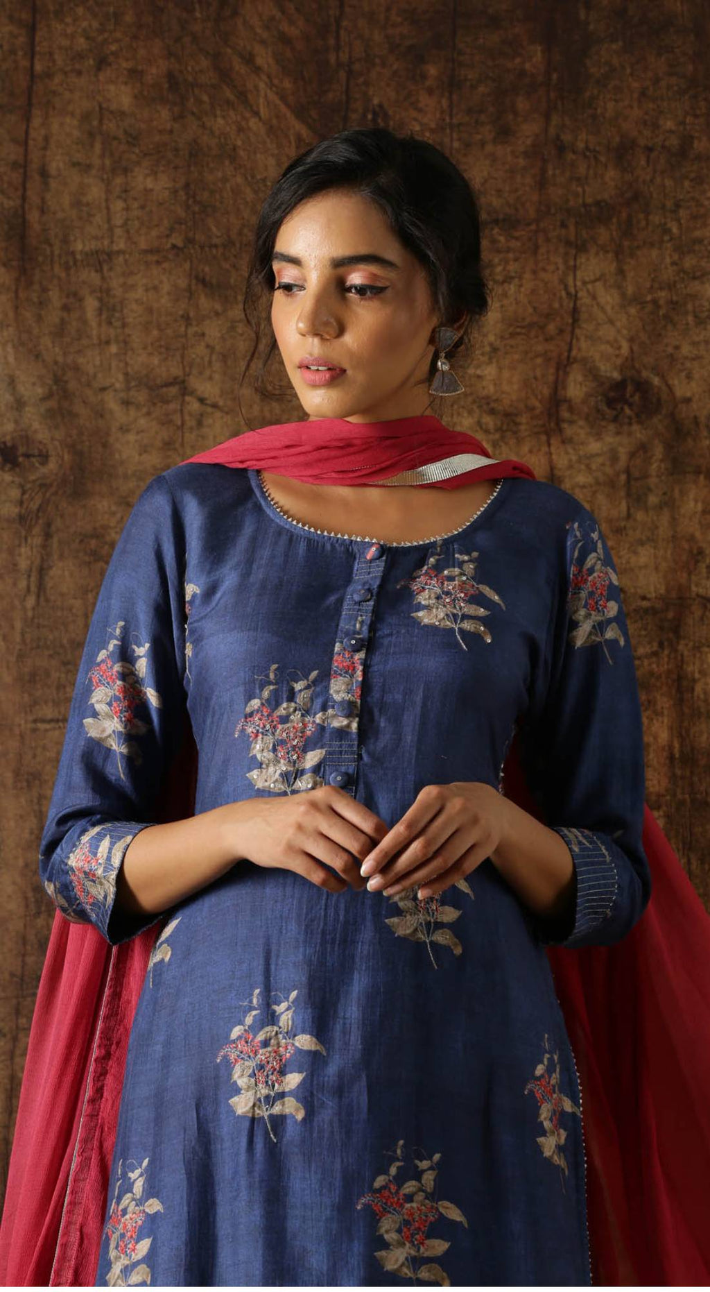 Printed Sharara Set - Blue