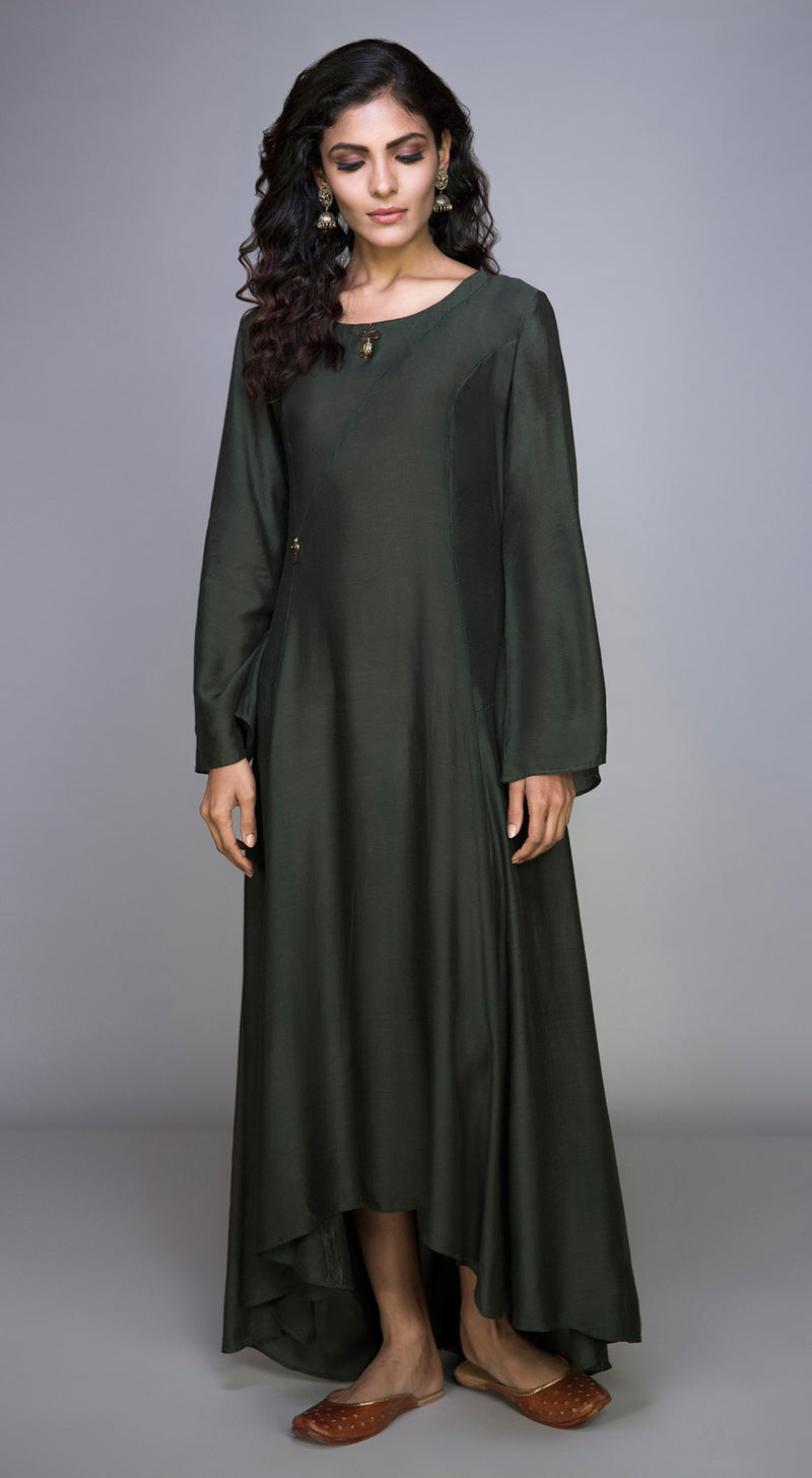Long Tunic with Cage Button