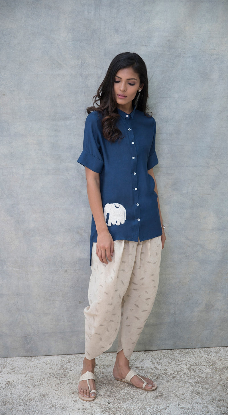 Elephant patch top