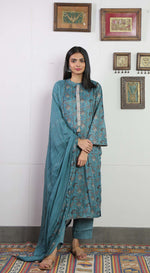 Unstitched Floral printed Kurta set with Dupatta