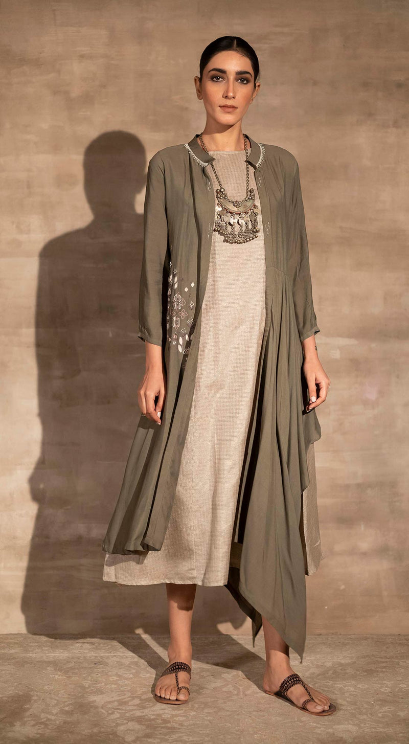 Embroidered Long Asymmetric Tunic