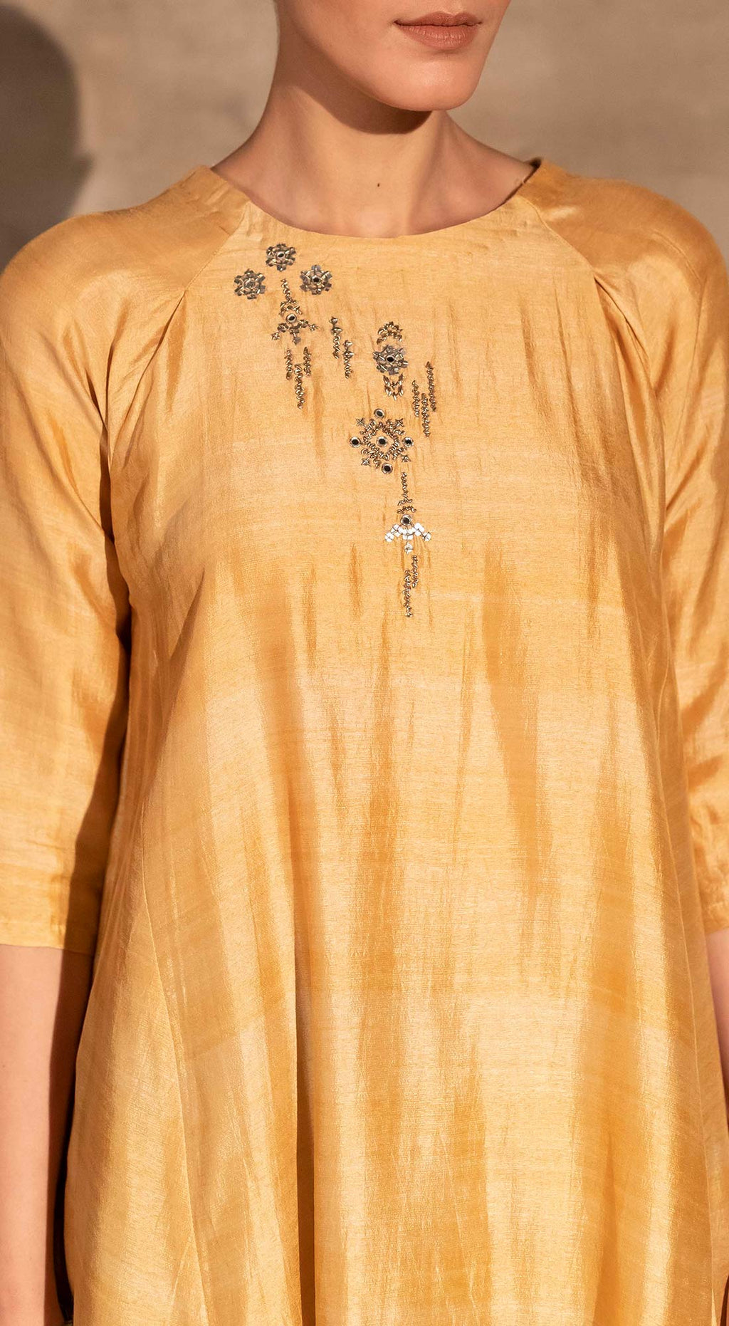 Earthy Embroidered Kurta Set