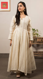 Thread embroidered kurta set with embroidered dupatta
