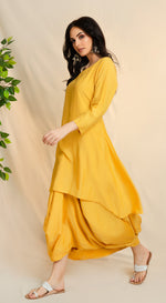 Plain weaved cotton kurta with an attached dhoti