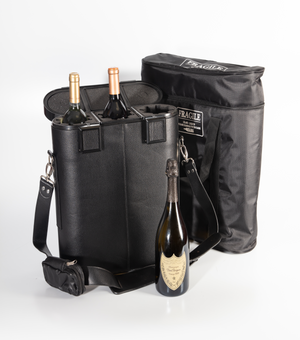 Bottleshock™ - Three Bottle Case with TSA Lockable Travel Bag