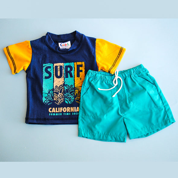 Conjunto surf playera y short
