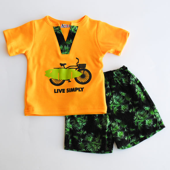 Conjunto live simply short y playera
