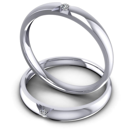 Round Cut Diamonds Wedding Sets in 14KT Rose Gold