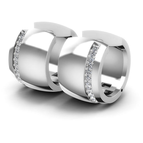 Round Diamonds 0.30CT Earring in 14KT White Gold