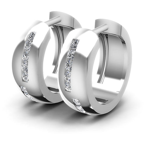 Round Diamonds 0.50CT Earring in 14KT White Gold