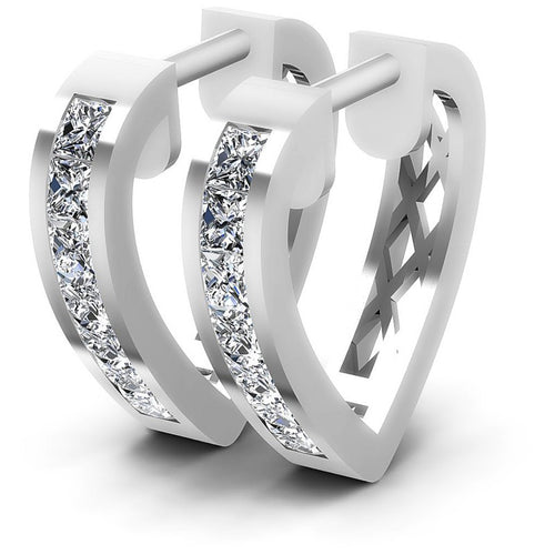 Princess Diamonds 1.00CT Earring in 14KT White Gold