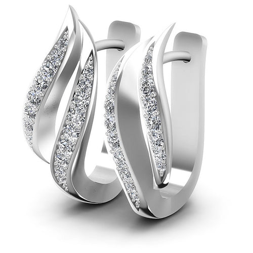 Round Diamonds 0.70CT Earring in 14KT White Gold