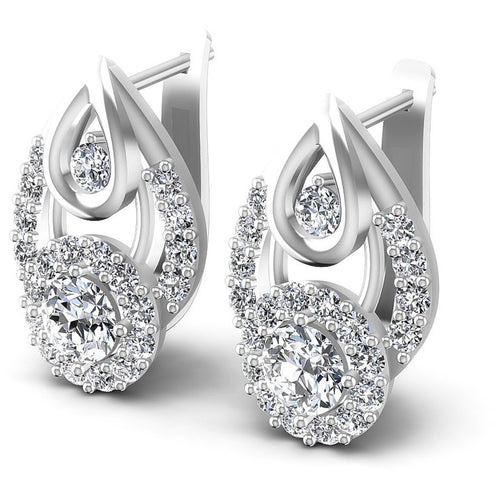 Round Diamonds 1.60CT Earring in 14KT White Gold