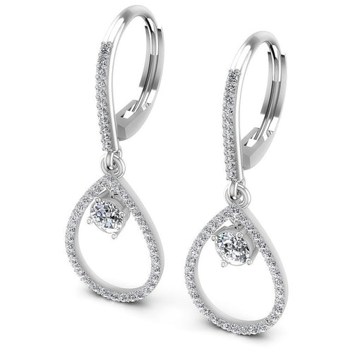 Round Diamonds 1.10CT Earring in 14KT White Gold