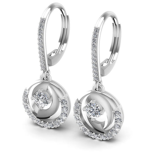 Round Diamonds 1.20CT Earring in 14KT White Gold