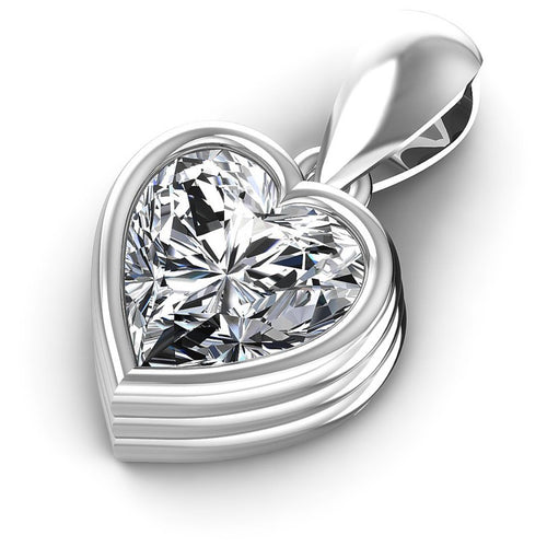 Heart Diamonds 0.35CT Solitaire Pendant in 14KT Rose Gold