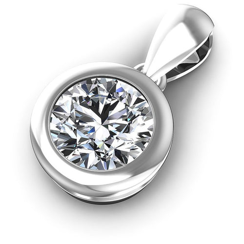 Round Diamonds 0.35CT Solitaire Pendant in 14KT Rose Gold