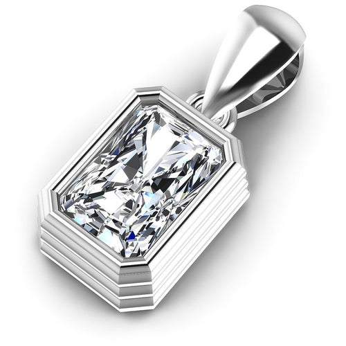 Radiant Diamonds 0.35CT Solitaire Pendant in 14KT Rose Gold