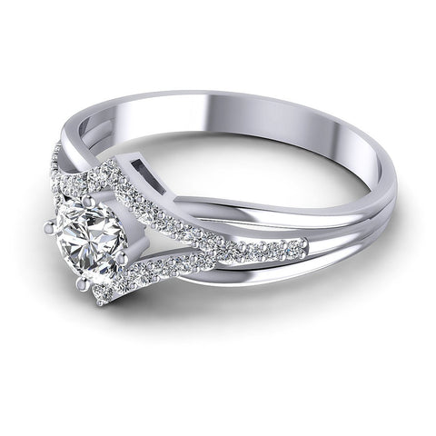 0.65CT Round  Cut Diamonds Engagement Rings