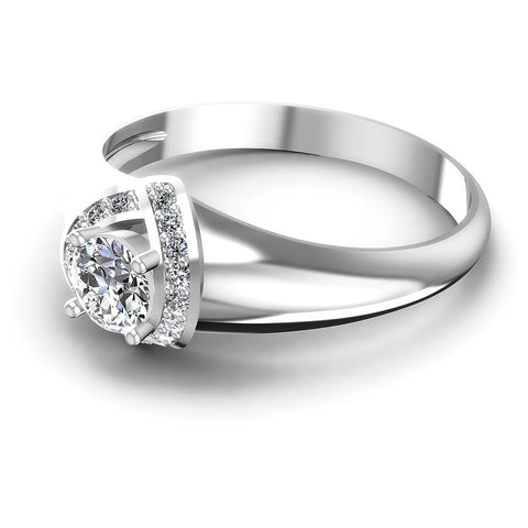 0.50CT Round  Cut Diamonds Engagement Rings