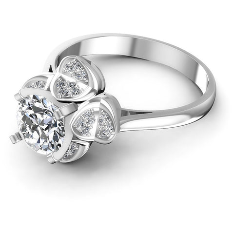 Round Diamonds 0.60CT Engagement Ring in 14KT Rose Gold