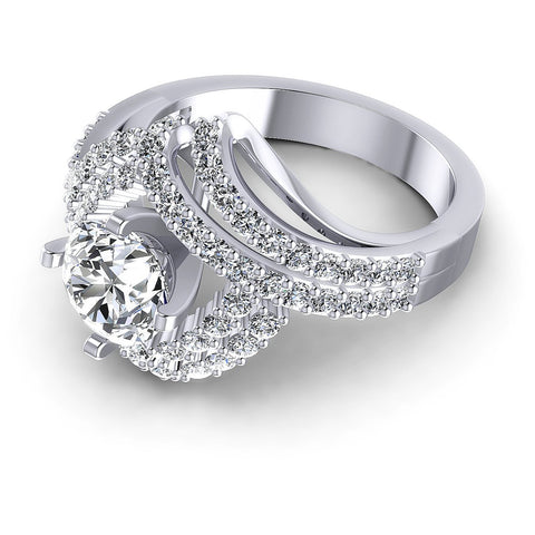 1.15CT Round  Cut Diamonds Engagement Rings