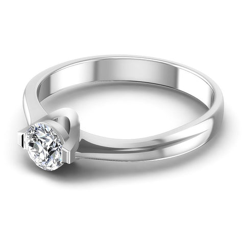 Round Diamonds 0.35CT Solitaire Ring in 14KT Rose Gold