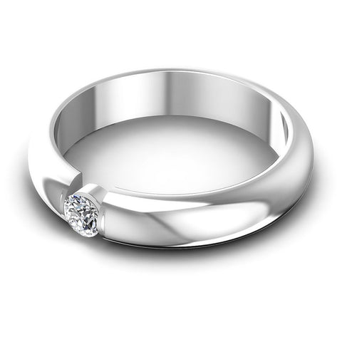 Round Diamonds 0.15CT Solitaire Ring in 14KT Rose Gold