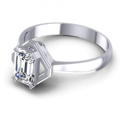 Princess Cut Diamonds Solitaire Ring in 14KT Rose Gold
