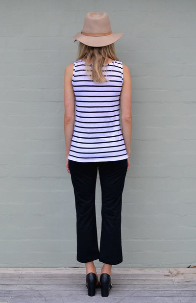 White & Black French Stripe ?id=28093702963399