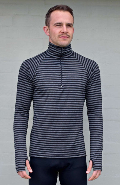 Black Grey Stripe