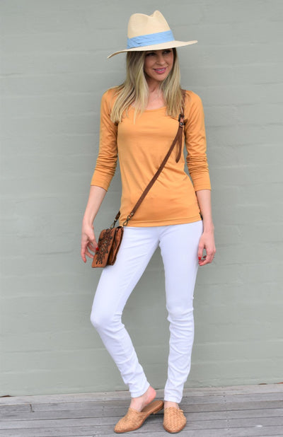 Scoop Neck Plain Top