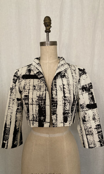 Abstract Print Faille Jacket