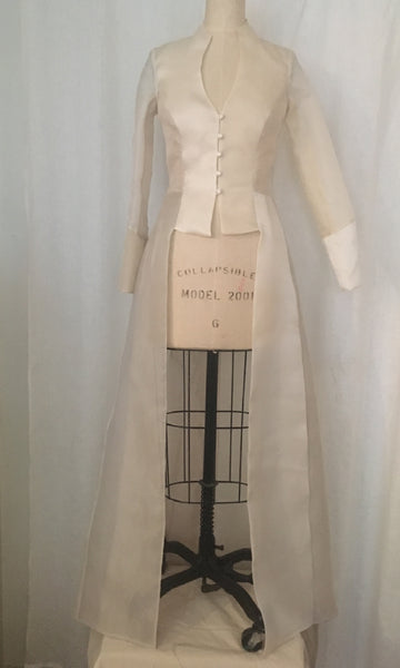 Organza Long Edwardian Coat
