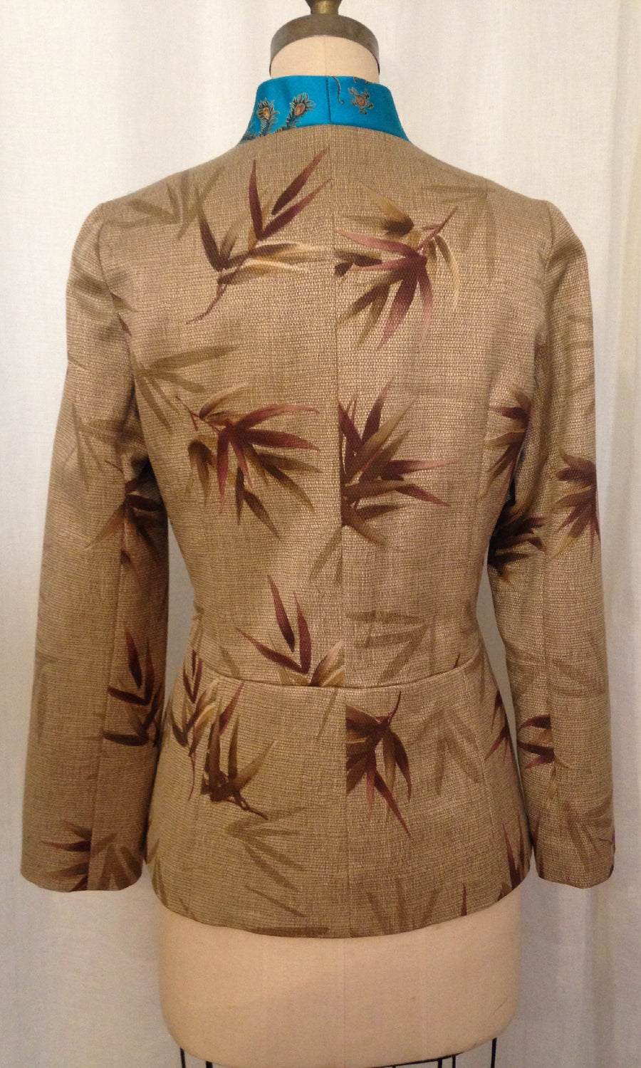 Brocade & Bamboo Edwardian Jacket, Size Medium