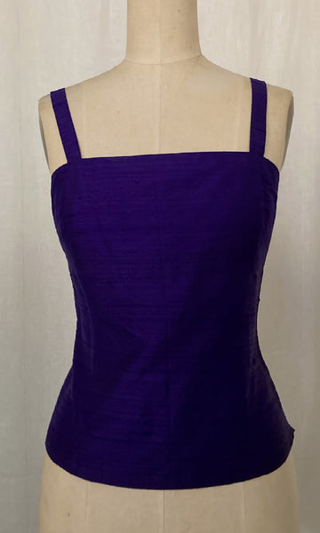 Purple Shantung Camisole, size Small