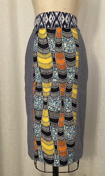 Mixed Media Pencil Skirt, size Small