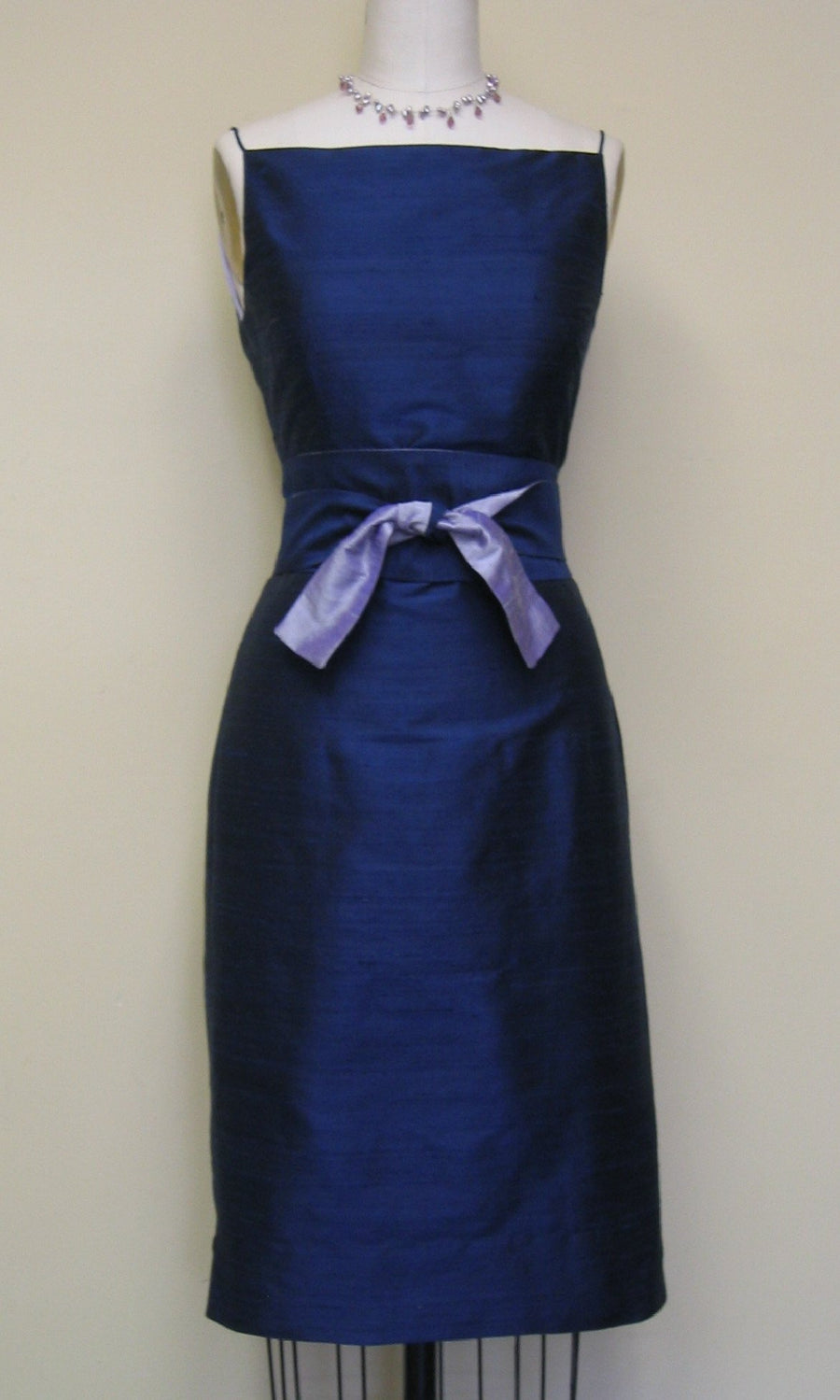 Classic Shantung Sheath Dress
