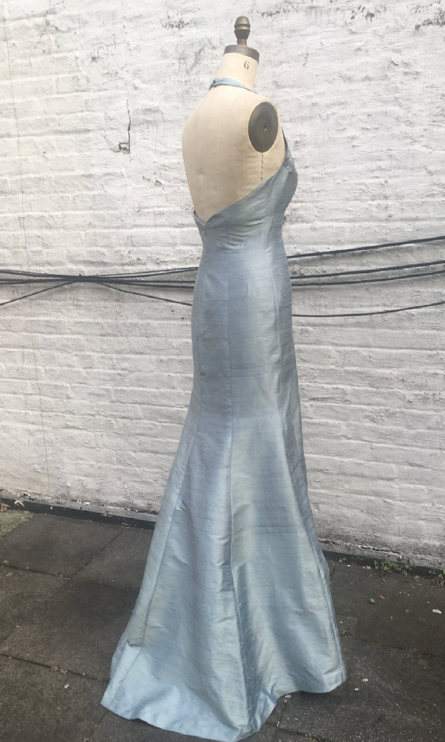 Long Classic Halter Trumpet Gown