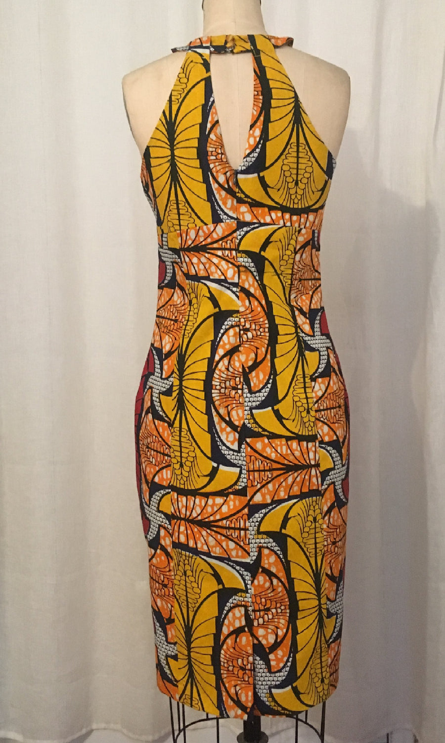 African Print Grecian Halter Dress