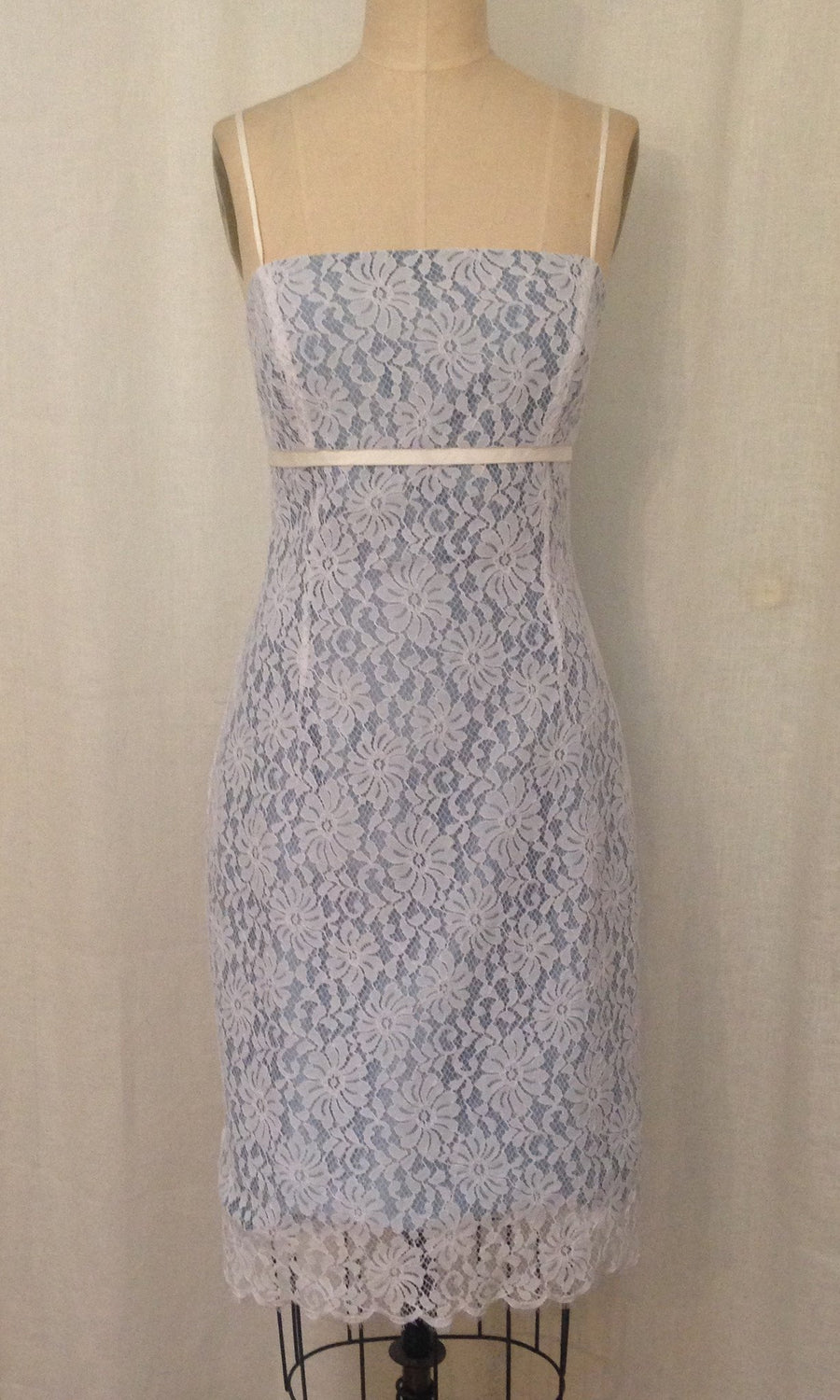 Lace Spaghetti Strap Fitted Dress, size X-small
