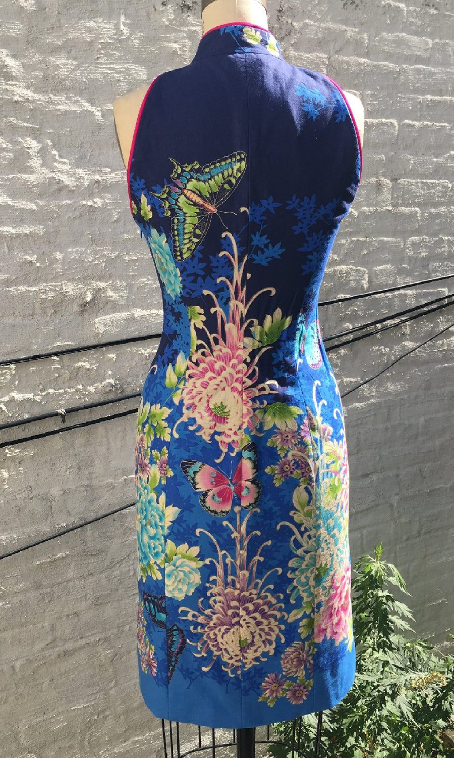 Asian Floral Border Print Cheongsam