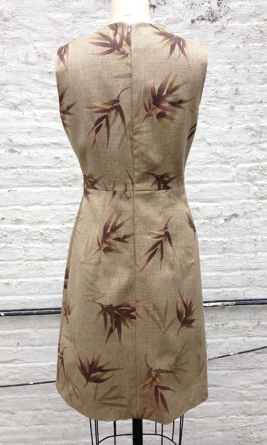 Bamboo Print Sheath Dress, size Small