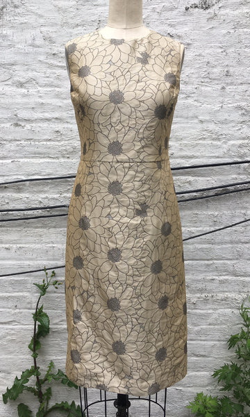 Daisy Brocade Sheath Dress, size Large
