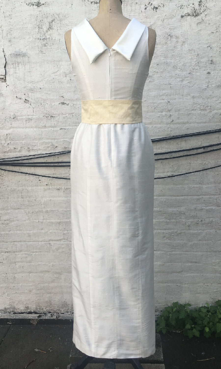 Roll-collar Column Dress