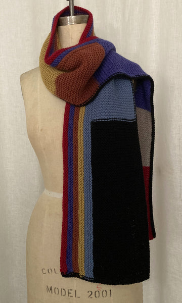Color Block Handknit Scarf
