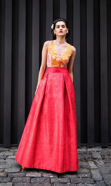 Shantung Long Ball-Gown Skirt