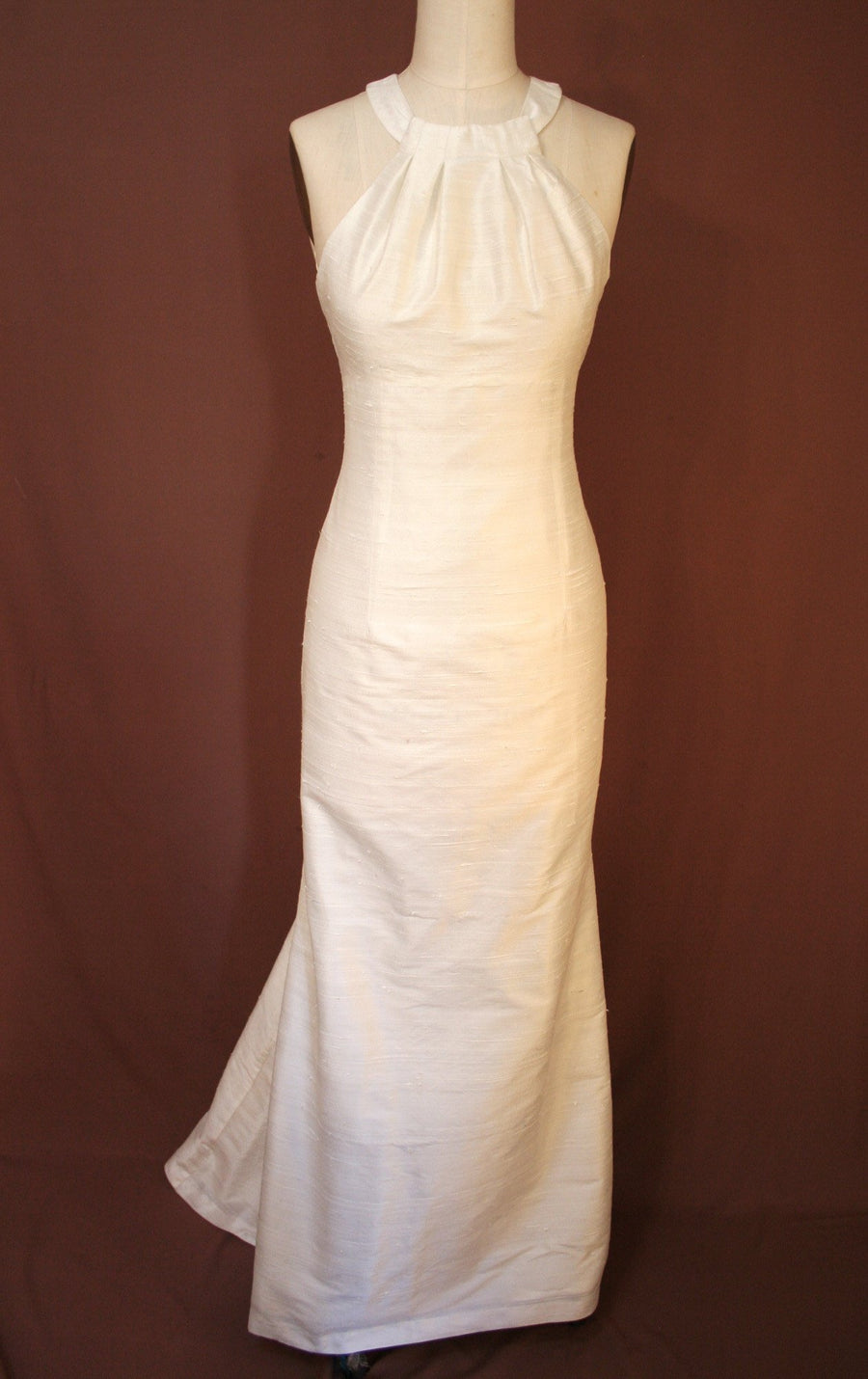Grecian Halter Trumpet Wedding Dress